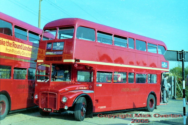 RML881 WLT881 Aldenham 1983