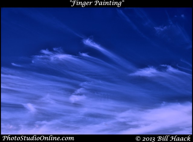 Finger painting with clouds