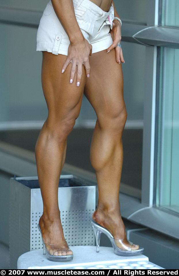 Womens muscular calves