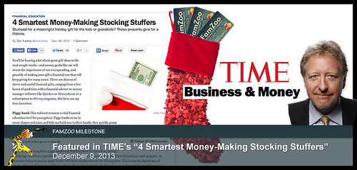"FamZoo featured in TIME's ""4 Smartest Money-Making Stocking Stuffers"" 