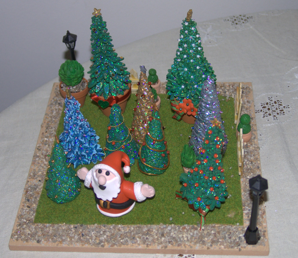 Polymer Clay Christmas Tree.The Christmas Tree Park Handmade Polymer Clay Christmas