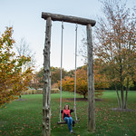 Swinging along