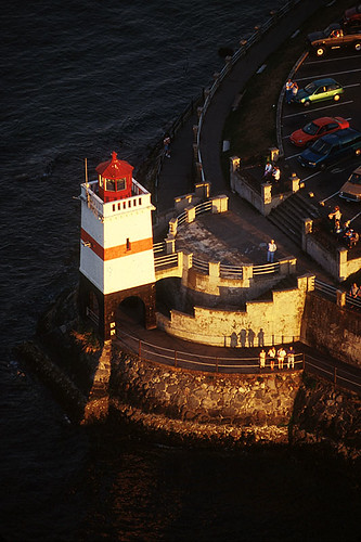 Brockton Point Light on Stanley Park Seawall, Vancouver, British Columbia, Canada