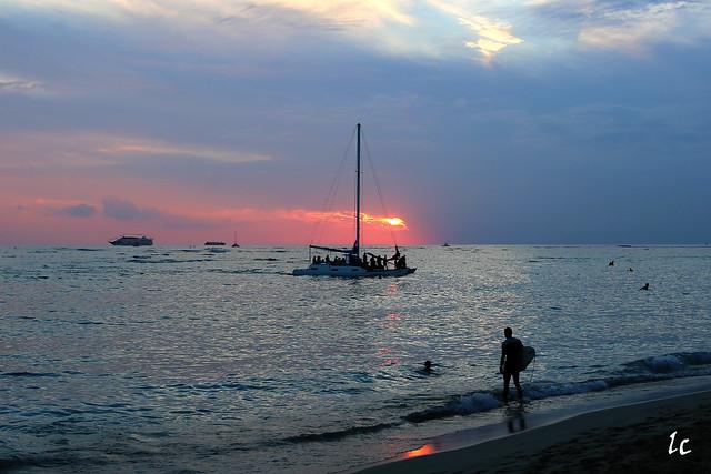 Sunset at Waikiki Beach TK9A0118