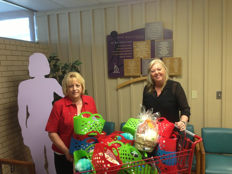 Our baskets were gratefully accepted at New Beginning Center in Garland.