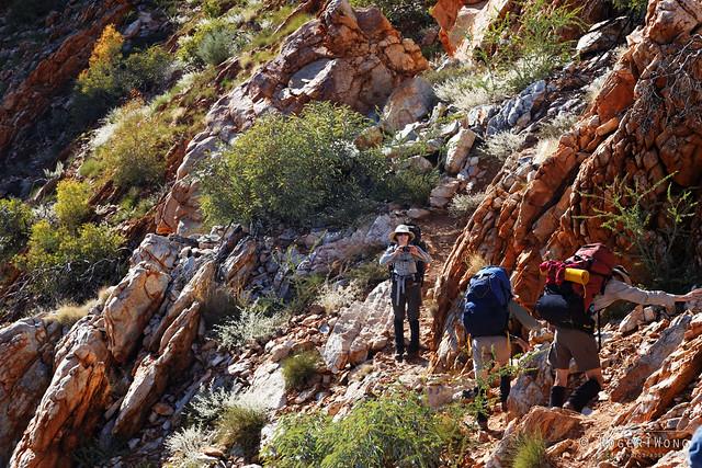 20140621-39-Larapinta Trail day 4 (S5) - Group along Razorback Ridge.jpg