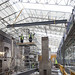 Work starts to rebuild the roof of the Mackintosh Building