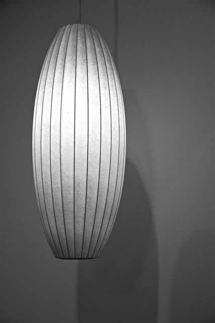 LAMP ...  by the brilliant George Nelson, 1908-1986, Cigar Pendant Lamp