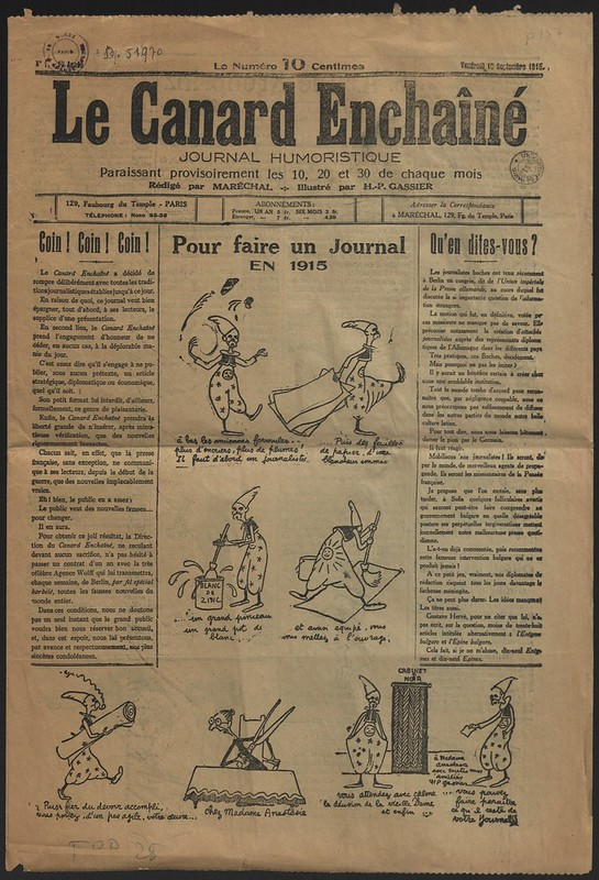 Le Canard enchaîné, été 1915