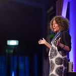 Francesca Simon on stage |