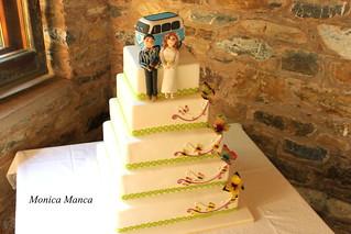 Hippie wedding cake | by MonicaManca cakes