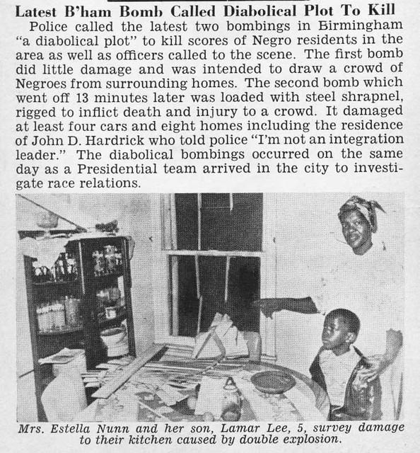 Two More Bombings in Birmingham, Alabama - Jet Magazine, October 10, 1963