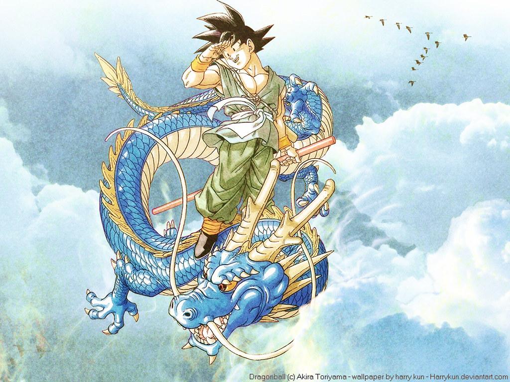 Dbz Goku Shenron C Akira Toriyama Dbz Goku Shenr Flickr