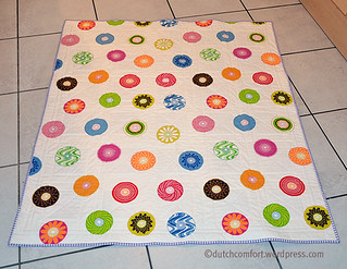 Scrappy Cabin quilt back