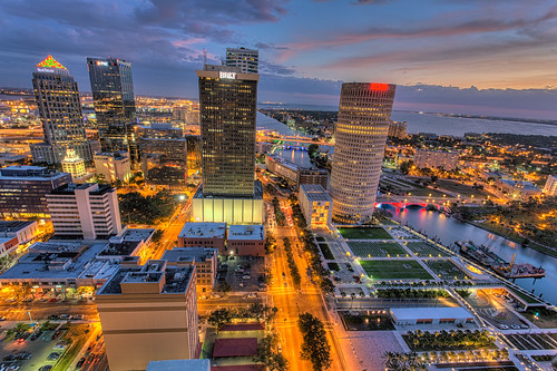 sunset tampa florida beercan processing nik hdr selectivecolor oldcityhall photomatix kileypark sykesbuilding rivergatebuilding
