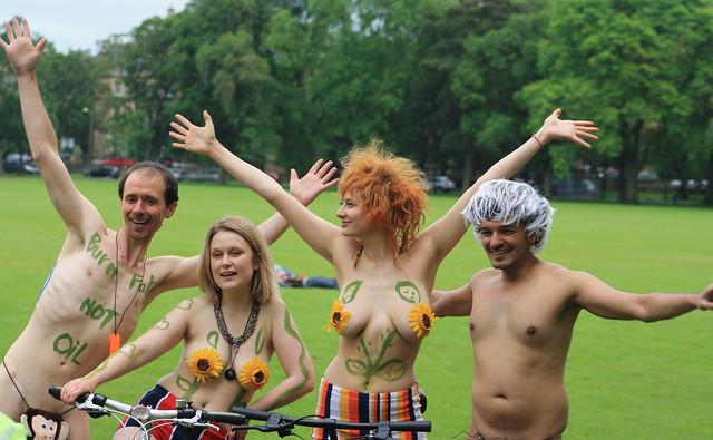Edinburgh's World Naked Bike Ride 2014