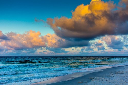 ocean blue sea sky gulfofmexico clouds sunrise blog sand unitedstates florida floridatrip miramarbeach destin2014
