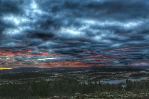 sunrise before best shot view landscape al norway norge clouds lake