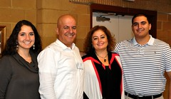 L-R: Mira, Mike, Gail and Rami Aoun.
