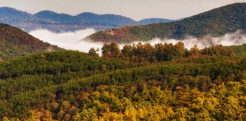 morning autumn mountains fall clouds nikon wv d700