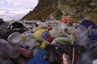 Marine litter. Most often found: Plastic pieces, bottles, rope, floats and buoys. | by Snemann
