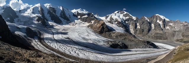 Piz Palü et le glacier de Pers depuis le Diavolezza, Suisse