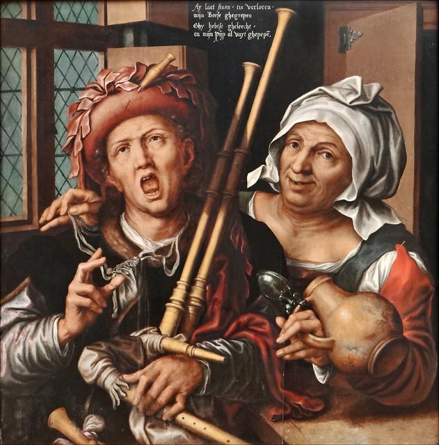 Le joueur de cornemuse et la vieille (Gemäldegalerie, Berlin)