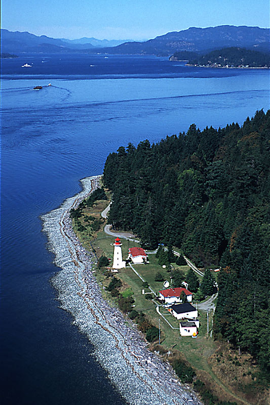 Cape Mudge Lighthouse, Quadra Island, Discovery Islands, British Columbia, Canada