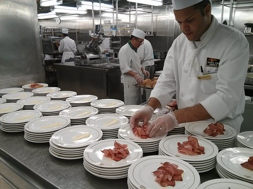 Prepping apps in the QM2 galley | by pburka