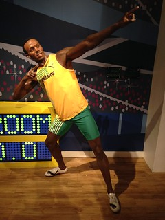 Usain Bolt figure at Madame Tussauds