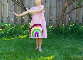 rainbow rollerskate dress   by skirt_as_top