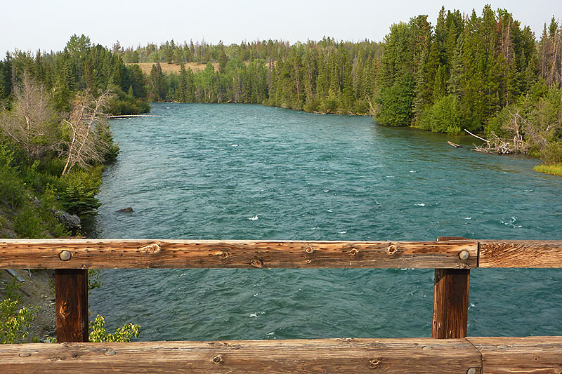 Chilko River at Tsuniah Lake Road north of Chilko Lake, Chilcotin, British Columbia, Canada