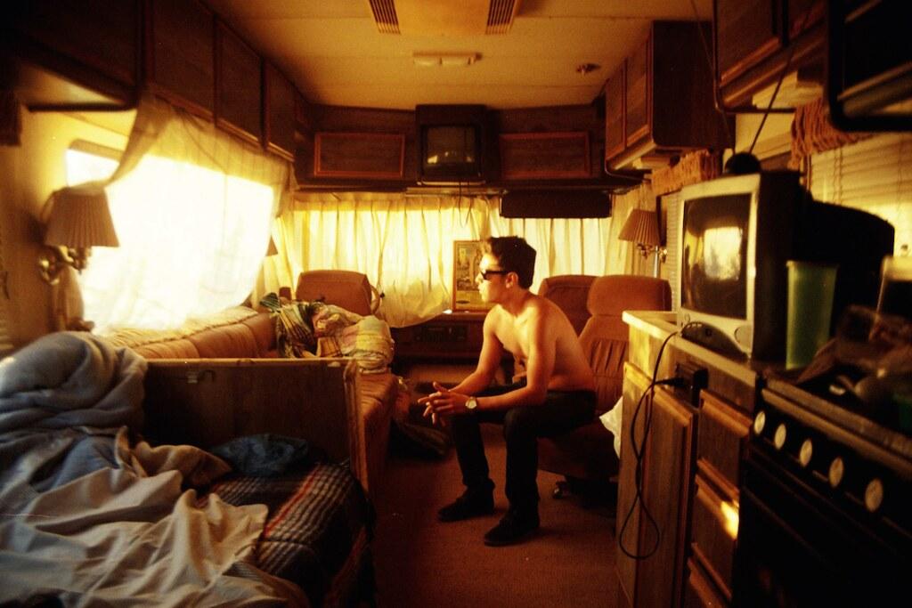 Mike en el motorhome (Zapotlanejo, 2014)
