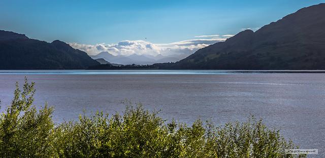 The Isle of Skye from Loch Carron.