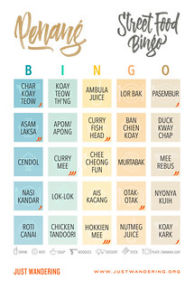 Penang Street Food Bingo | by nina_theevilone
