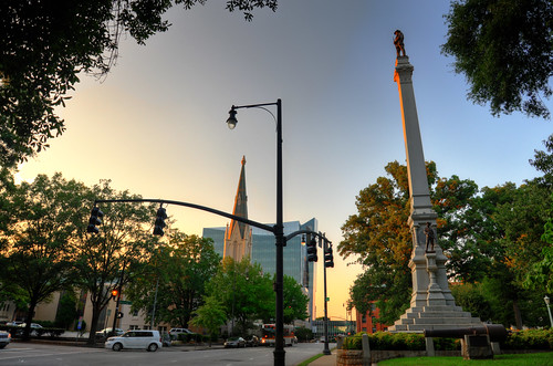street sunset church monument st nc war downtown north raleigh confederate cannon carolina hdr fayetteville hillsborough