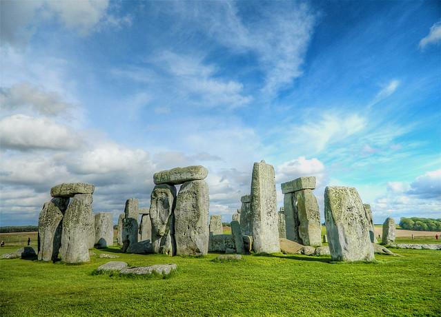 Blue sky over Stonehenge