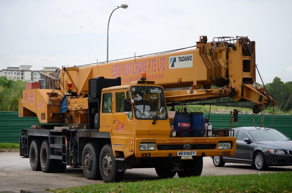 Beng Huat Crane Nissan Diesel Tadano GT550E Mobile Crane