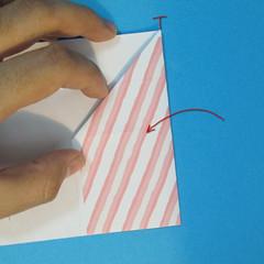วิธีพับกล่องกระดาษรูปหัวใจส่วนฐานกล่อง 010