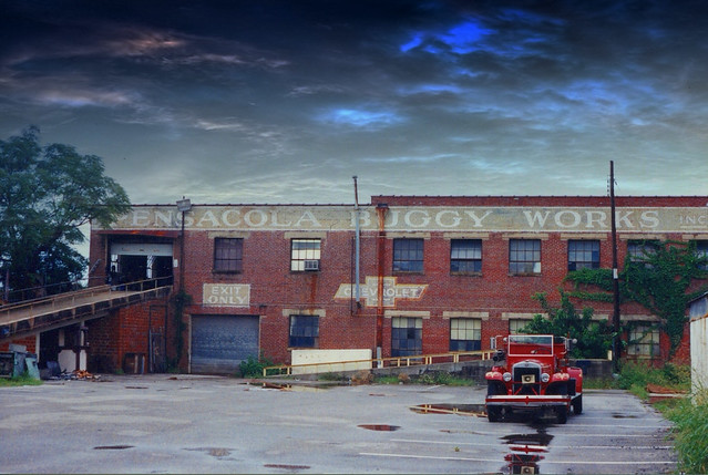 Old Pensacola Fl ~ Pensacola Buggy Works ~ Lost Historic Building ~ My vintage photo