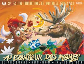 Affiche Festival Au Bonheur des Mômes - 2014   by Le Grand-Bornand