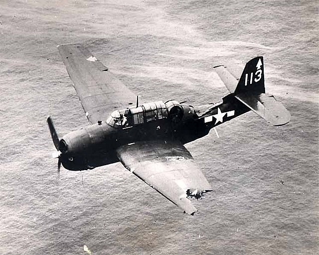 Grumman TBF Avenger Mid-air collision with another TBF