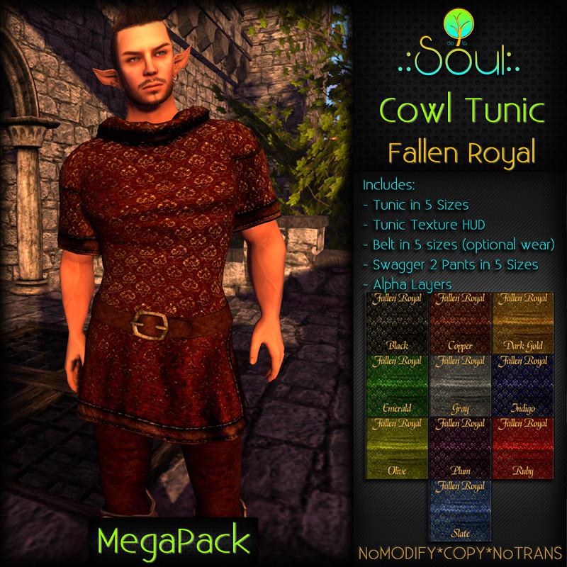 2014 Cowl Tunic FR - Male - MegaPack
