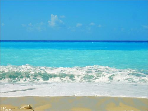 blue sea sky beach island ionio lefkada ionianislands egremnoi