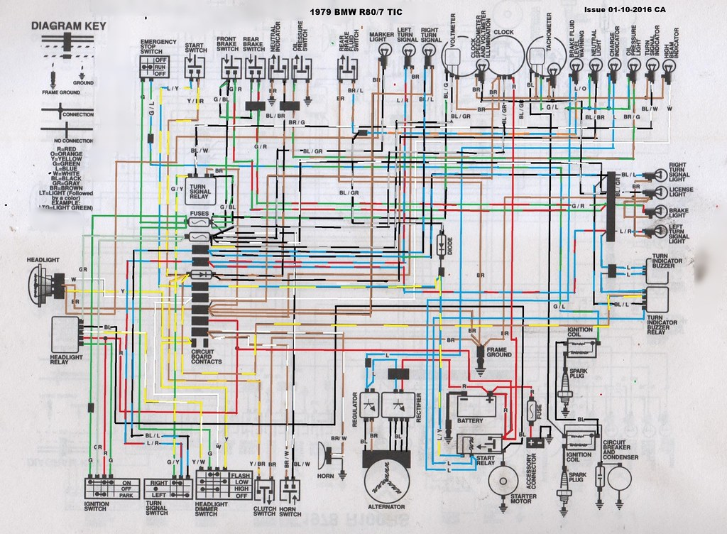 Tremendous 1979 Bmw R80 7 Tic Wiring Diagram A Coloured In Version Of Flickr Wiring 101 Capemaxxcnl