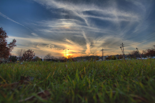 sunset today 1132016 waukesha wi byheldn blue sky sun yellow grass green clouds white tree canon t5i hdr copyrightdanielsheldon danielsheldon allrightsreserved copyright flora nature landscape outdoors