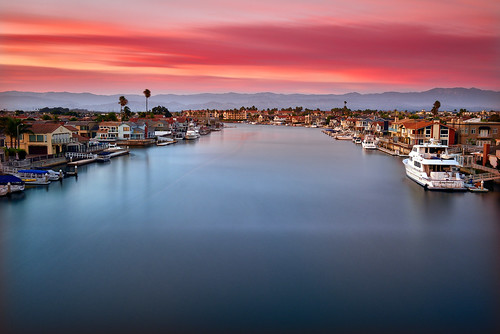 breastcancerawarenessmonth harbor ventura oxnard california landscape seascape sunset clouds water sky longexposure color light nikon
