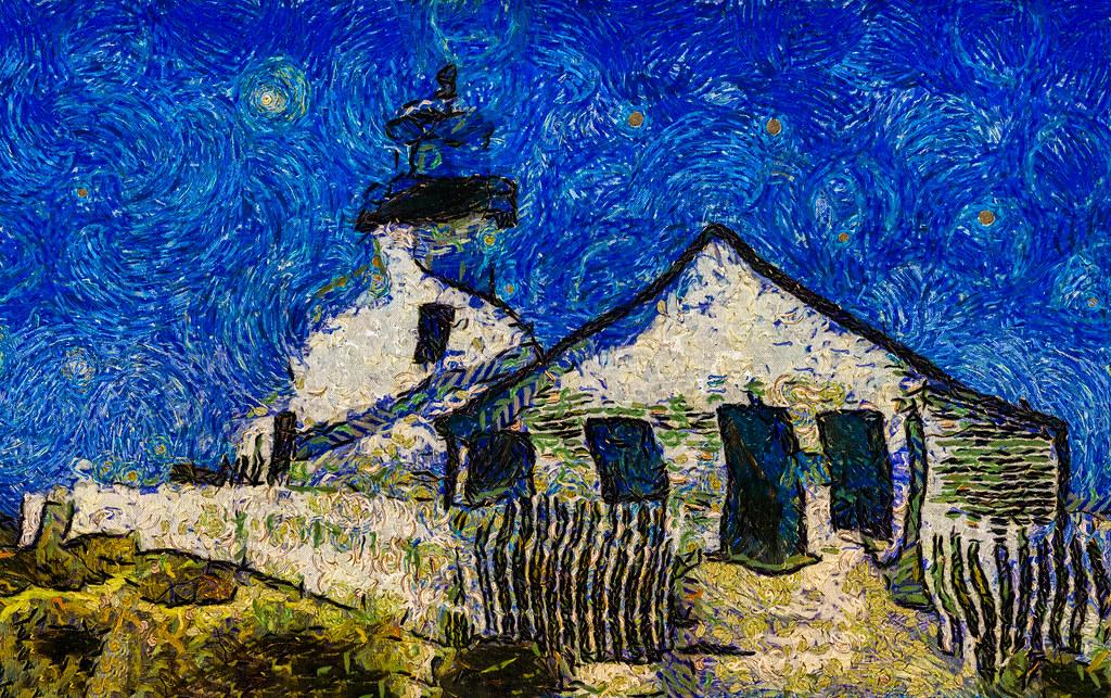 Point Loma Lighthouse Van Gogh