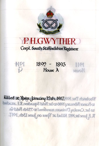 Gwyther, Philip Hugh (1878-1917) | by sherborneschoolarchives