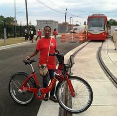 Hadiah doing bike safety demos